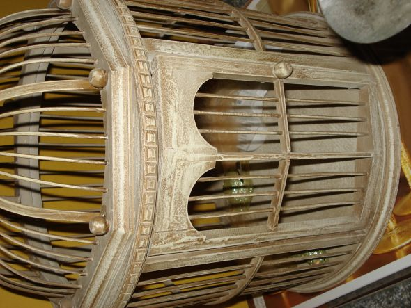 vintage bird cage wedding card holder