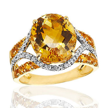 item ring a life diamond gold vintage full charmed white citrine