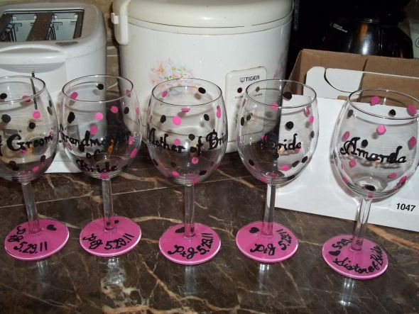 How To Paint Wine Gles For Bridesmaids Wedding Tips And Inspiration