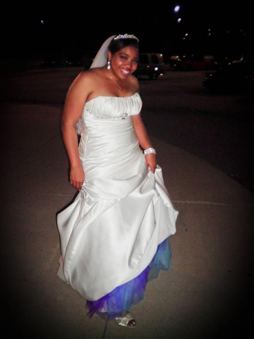 turquoise and purple wedding garters