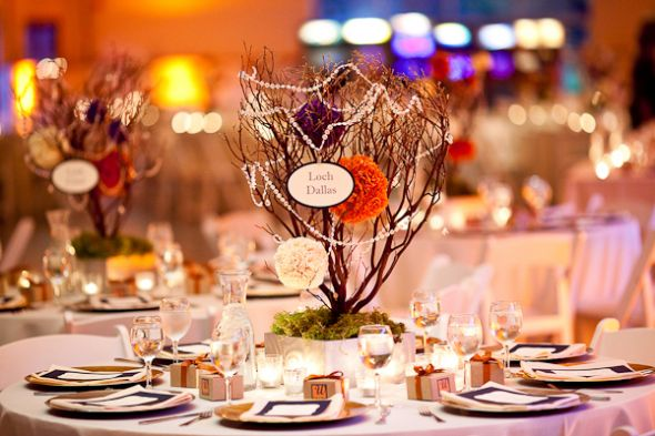 Gorgeous Manzanita Centerpieces wedding manzanita reception centerpiece