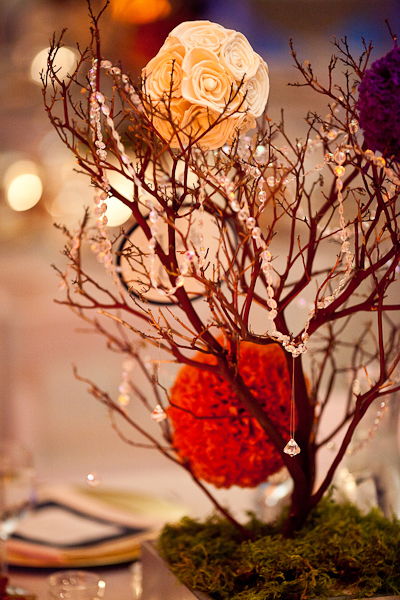manzanita centerpiece october wedding