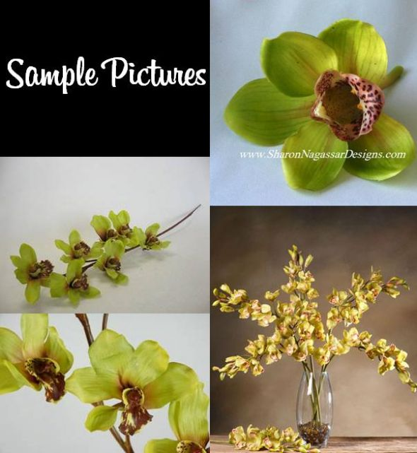 WantedSilk Green Orchids Centerpieces Decor Etc wedding orchid