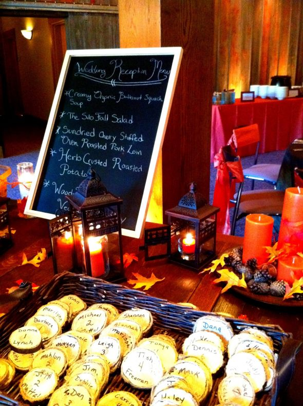 wedding Wedding Dinner Welcome Table fall decorations
