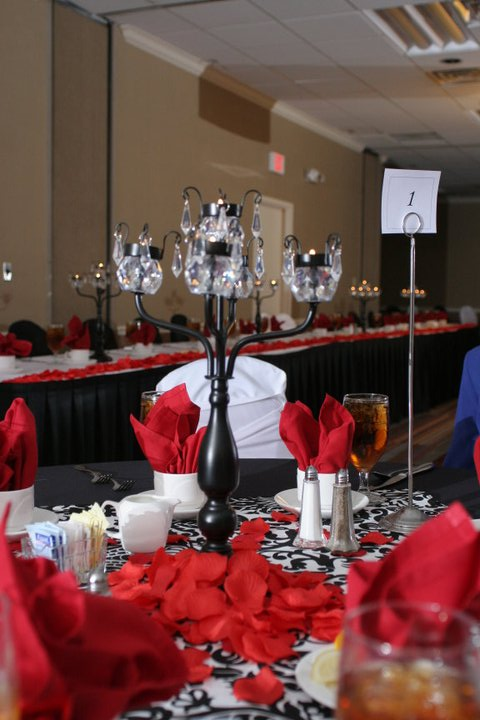 Red And Black Wedding Reception Ideas