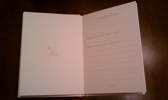 Wishes From Our Wedding Guests Guest Books for each table