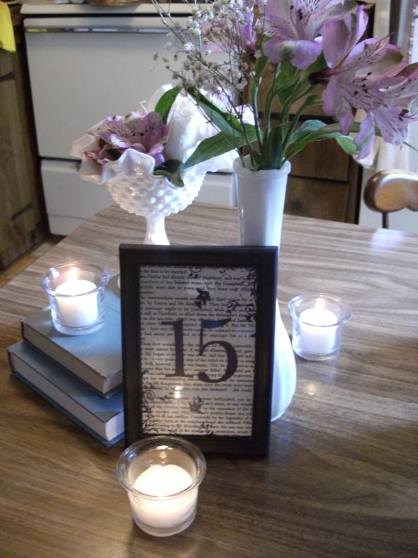 My Centerpiece MockUp wedding centerpieces blue purple white flowers diy