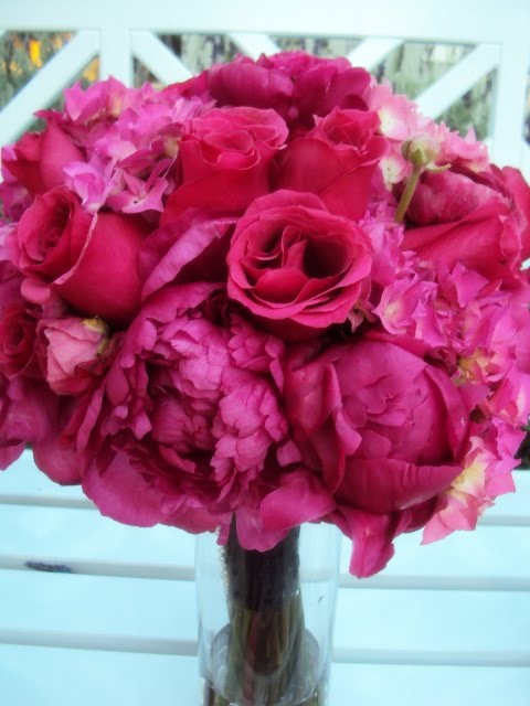 Which Bouquet for ME? : wedding Hot Pink Peonies And Roses Wedding Bouquet