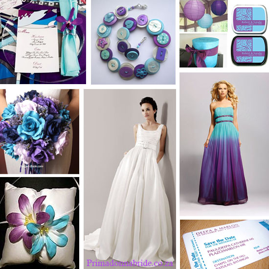 Turquoise and Purple Beach Wedding wedding turquoise purple plum beach