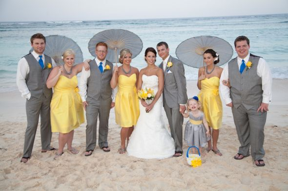 Yellow Wedding Party Dresses 96