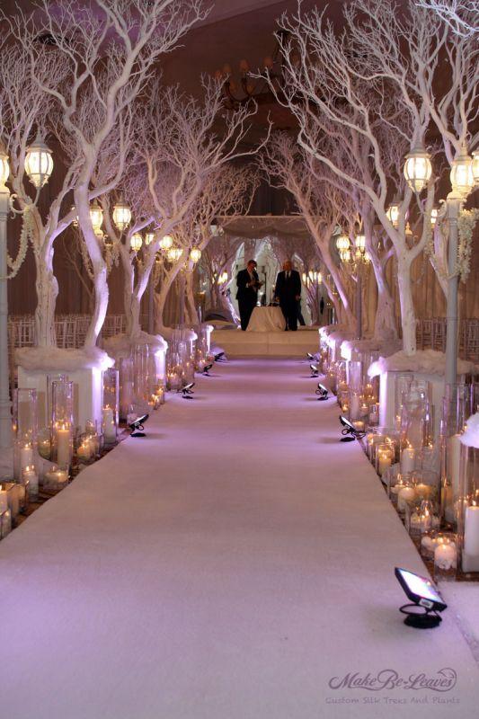 wedding centerpieces decorations WinterWonderland Wedding Trees1