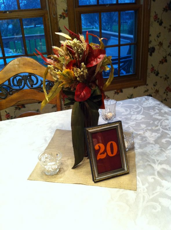 frame numbers for sale Rustic fall wedding decor available midOctober