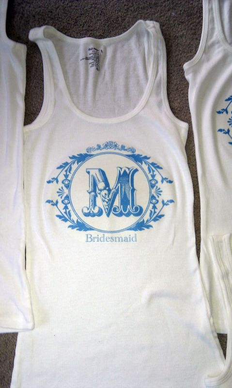 DIY Bridesmaids Shirts wedding blue diy Bridesmaid 2