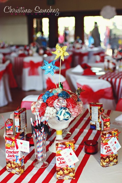 carnival theme diy centerpieces weddingbee photo gallery