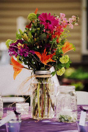 I used mason jars for my table centerpieces for our wedding and have no