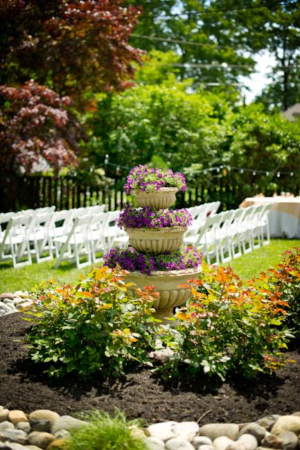 Backyard Wedding Flower Garden  Weddingbee Photo Gallery