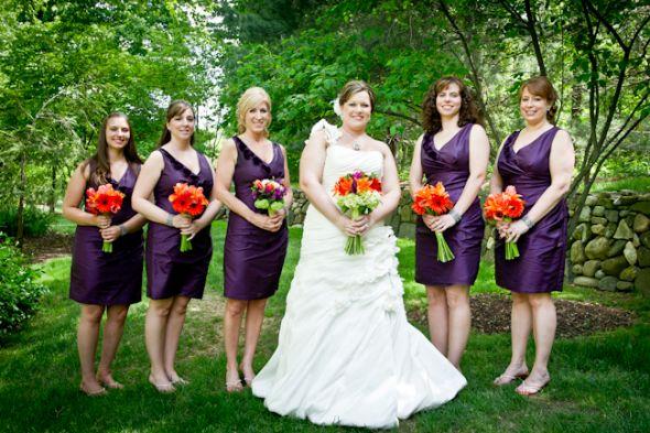 Wedding Bridesmaids Dress Photos wedding plum orange green short dresses