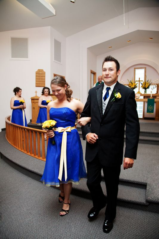 Royal Blue BM Dresses Black or Silver Shoes wedding Blue Dress
