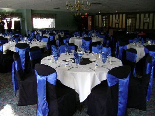 black chair covers royal blue sashes wedding royal blue satin sashes