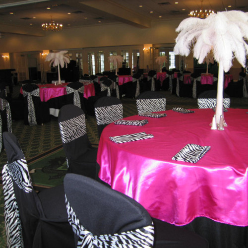 Sabis blog vibrant rusts oranges and reds set the tone for the zebra satin napkins wedding zebra satin zebra napkins zebra black white junglespirit Gallery