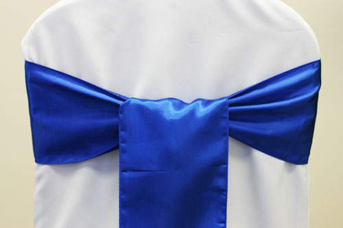 Royal Blue Satin Sashes wedding royal blue napkins chair cover sashes blue