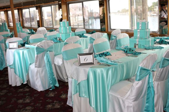 Tiffany blue and Coral Chair Sashes Fabric wedding chair sashes fabric