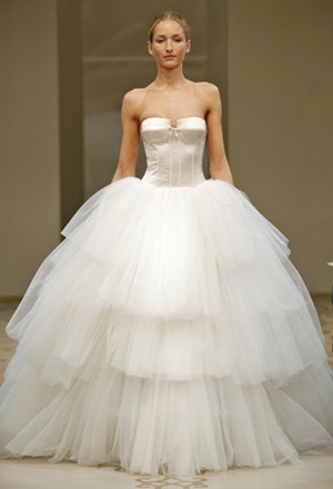 and having an indoor wedding I would wear a big poofy ballgown