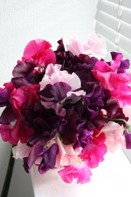 Purple Pink Teal Ivory Wedding Fake Wedding Bouquets Blogspot
