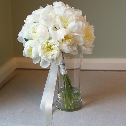 Bouquet de novia blanco y negro 2