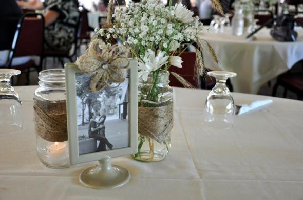 Wedding Frames Tolsby Ikea Centerpieces Burlap Twine Diy Table Setting