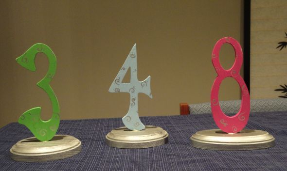 Painted Wooden Table Numbers wedding table numbers wooden michaels blue