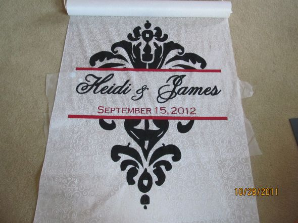 Damask Aisle Runner