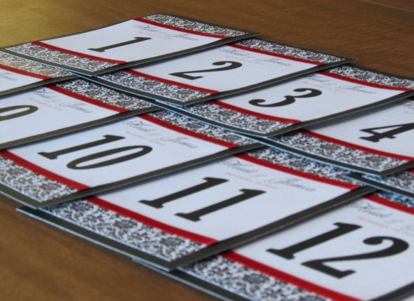 DIY Damask Table Numbers