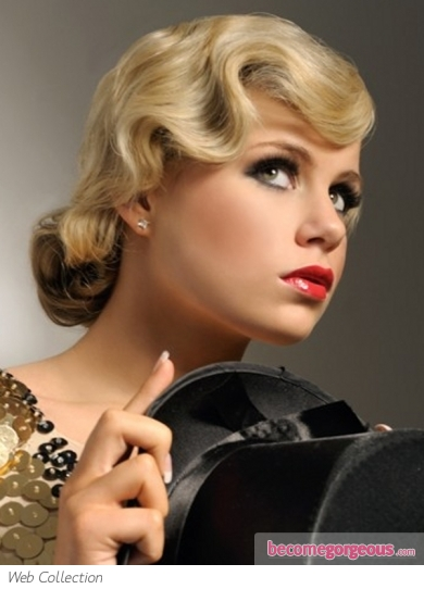 Vintage Finger Wave Long Hair