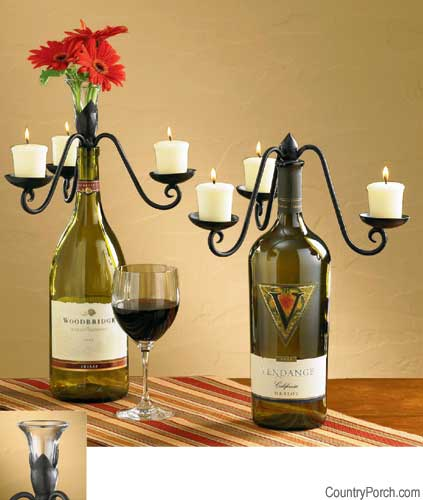 Wine Bottle Centerpieces wedding Vase Candelabra Wine Bottle Toppers