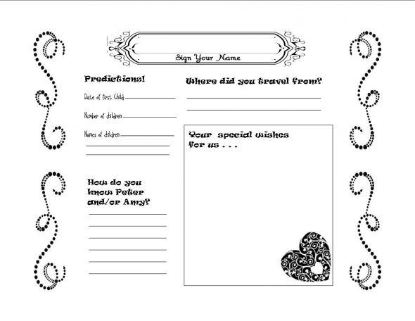 Diy Wedding Guest Book Template - Costumepartyrun