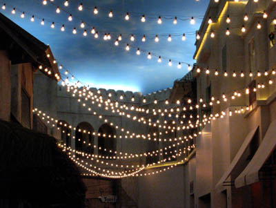Outdoor festival string lights