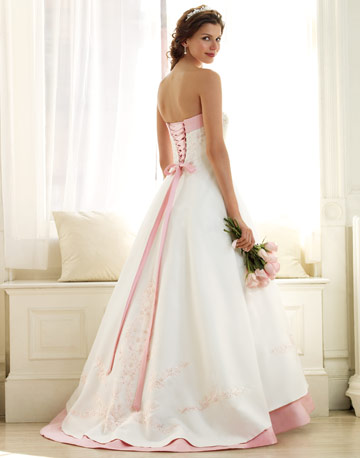 hot pink and white wedding dresses 2012