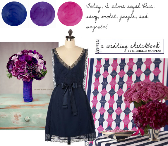 wedding reception colors New Navy Pink Purple Wedding 1 year ago