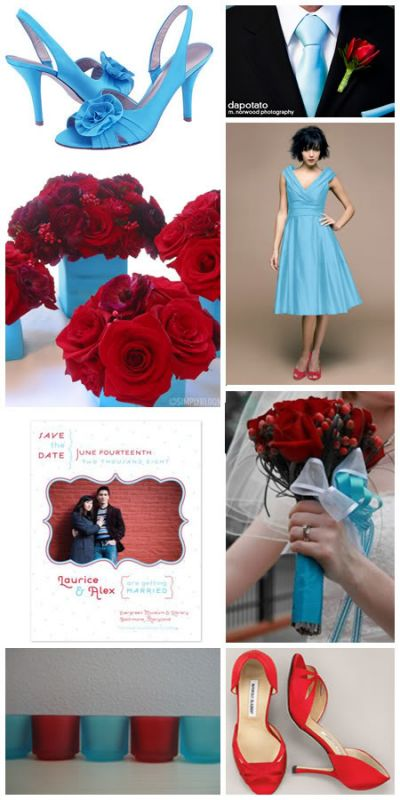 wedding red turquoise inspiration board Red 1 year ago