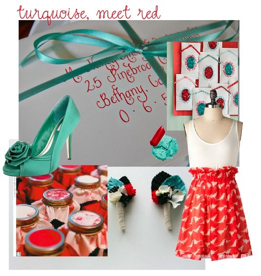 Turquoise flowers wedding Turq what did you do when it came to