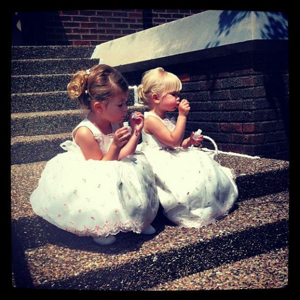 Help Finding Flowergirl Dresses :  wedding cheap dress flower girl junior bridesmaid Bubble Girls