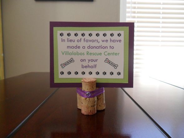 Ideas In Lieu Of Wedding Gifts : Making donation instead of favors.. - Weddingbee