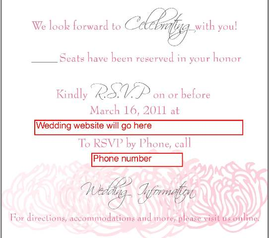 RSVP what do you think of the wording wedding NEW RSVP Card 45