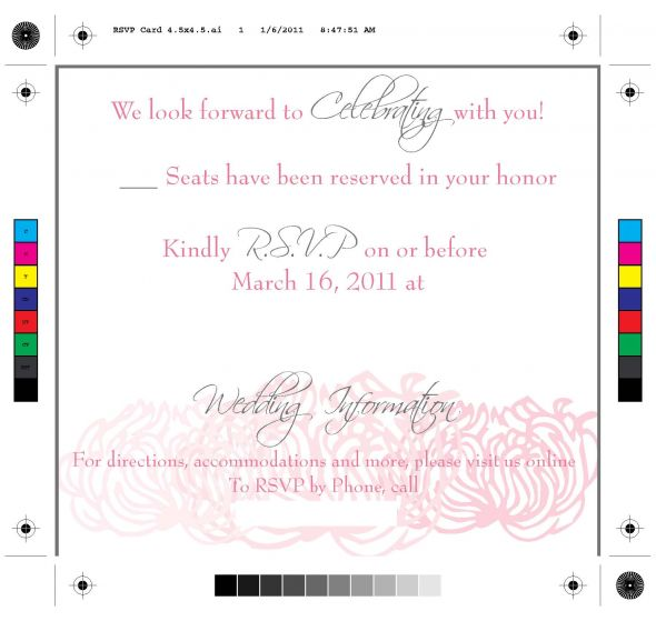 Online RSVP what do you think of the wording wedding RSVP Card 45x4