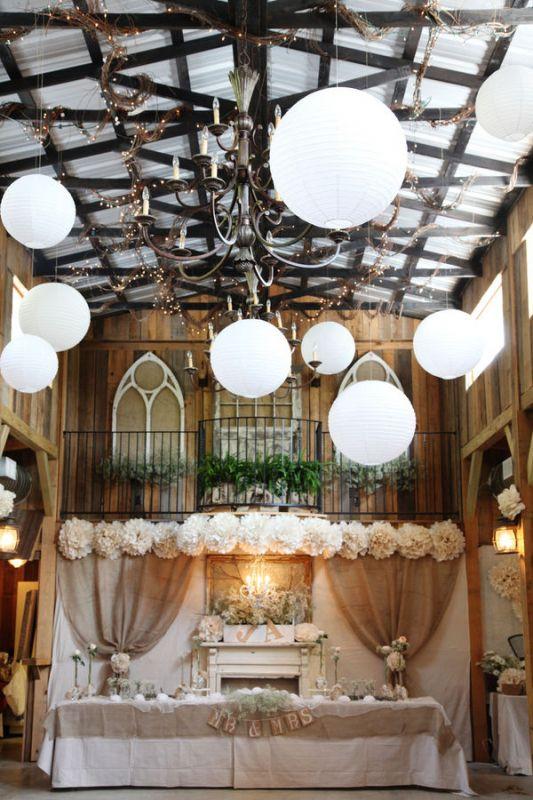 barn wedding decorations wedding rustic barn country decor Cake Table