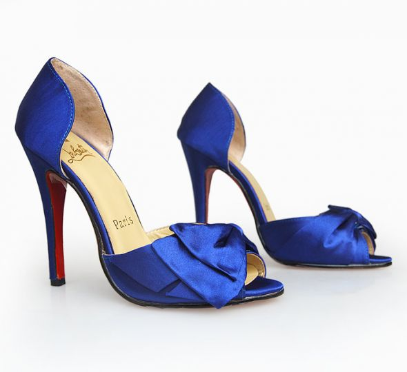 wedding shoes louboutins blue Blue Louboutins