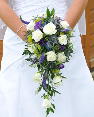 Bridal Bouquets on Bridal Bouquet   Wedding Purple White Ivory Bouquet Flowers Rose