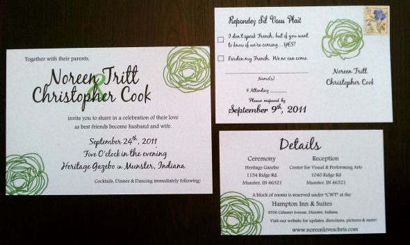 Our DIY Wedding Invitations