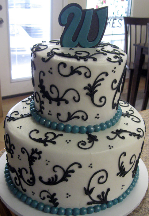 wedding colors Black And Turquoise Wedding Shower